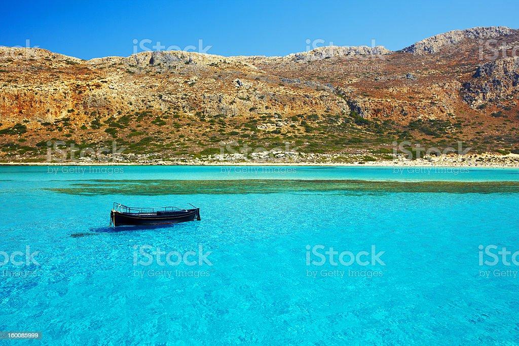 Heaven commonly known as Balos Lagoon stock photo