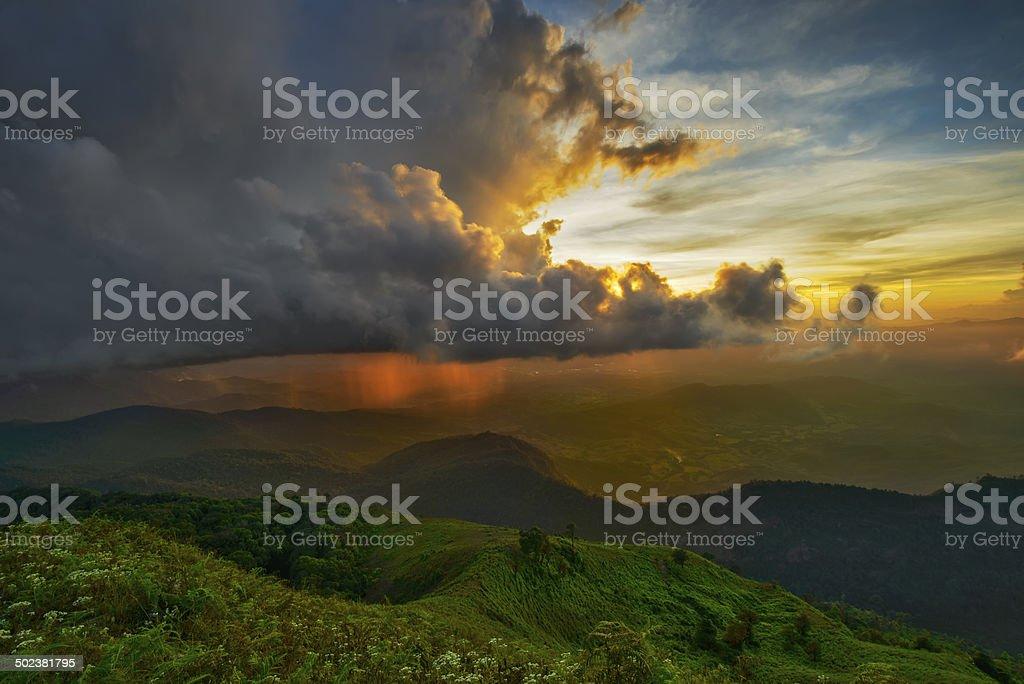Heaven In The Rain stock photo
