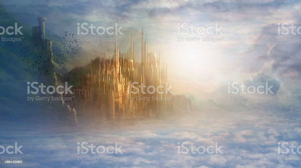 Heaven is waiting for those of pure heart stock photo