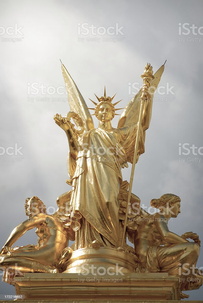 Heaven opens at the Opera royalty-free stock photo