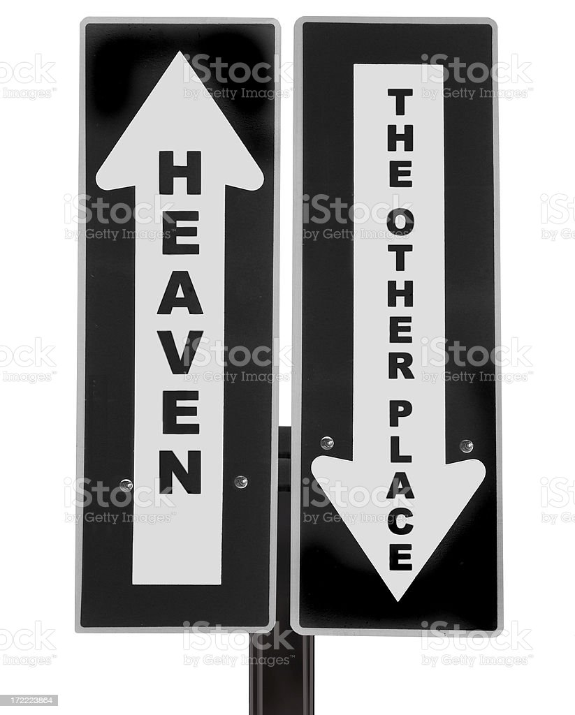 Heaven or hell royalty-free stock photo