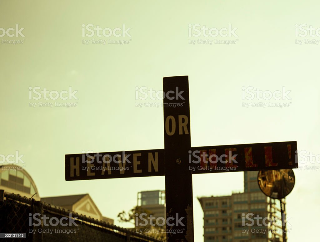 Heaven or Hell stock photo