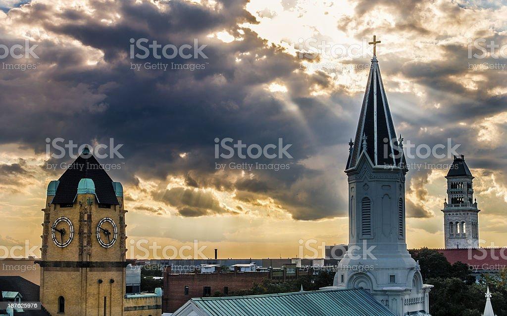 Heaven Rays royalty-free stock photo