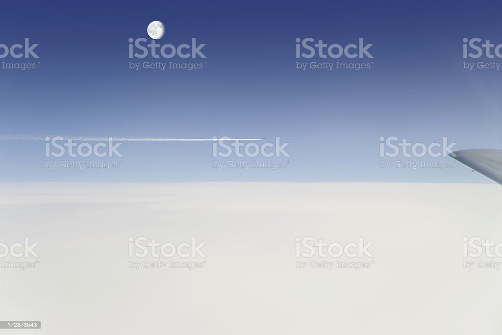 Heaven with moon royalty-free stock photo