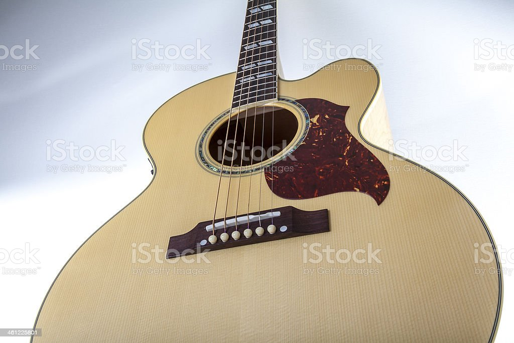 Heavenly acoustic guitar stock photo