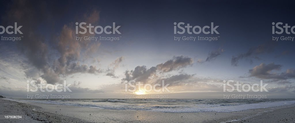 Heavenly beach background ocean sunset panorama Florida Gulf Coast stock photo