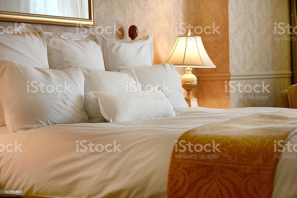 heavenly bed stock photo