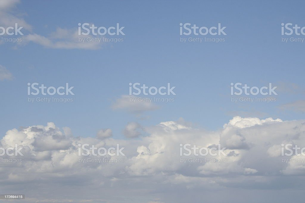 Heavenly Blue Sky stock photo