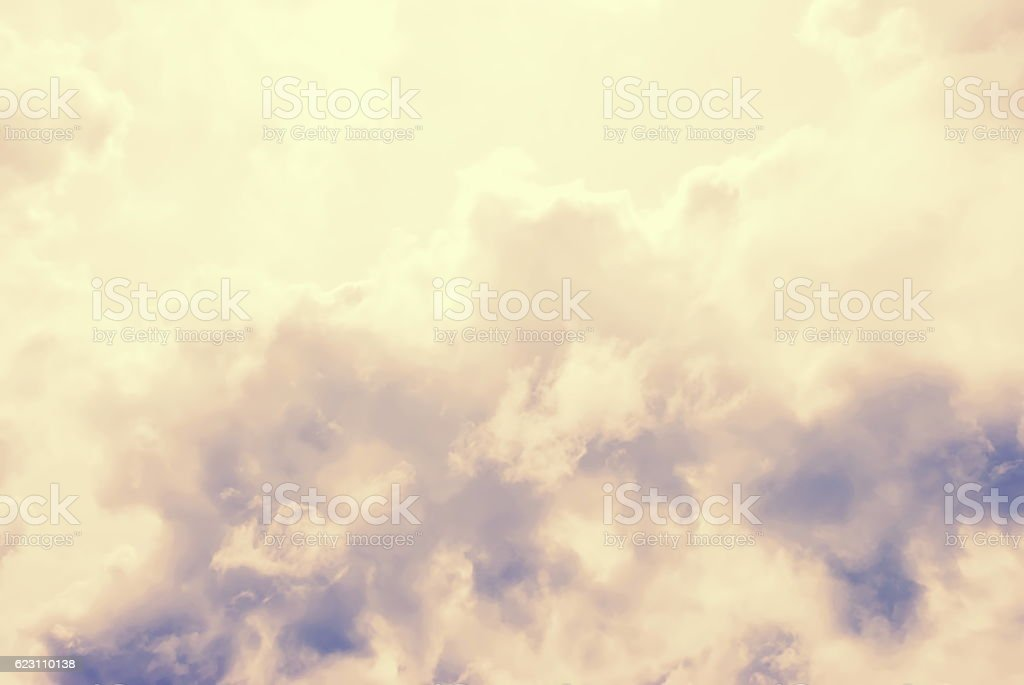 Heavenly Clouds in Pink and Purple Pastel Colours stock photo