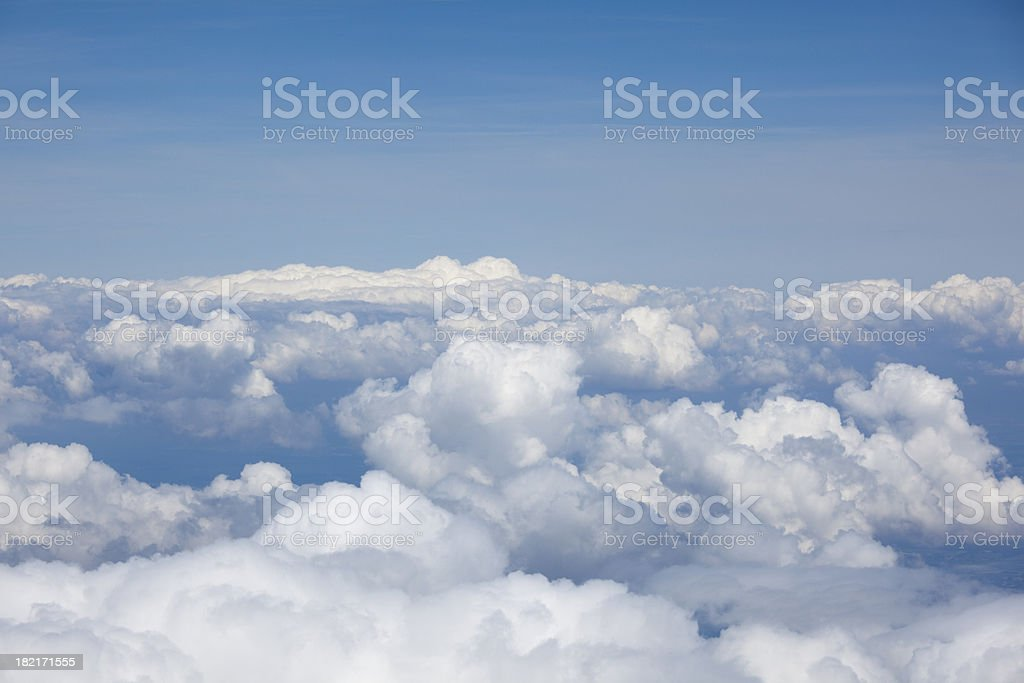 Heavenly Cloudscape View from Above Clouds stock photo