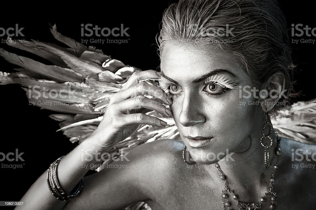 Heavenly Guardian Angel royalty-free stock photo