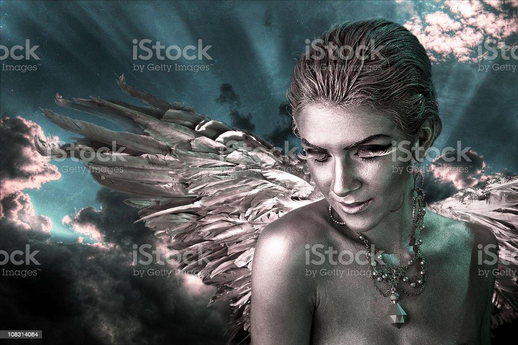 Heavenly Guardian Angel stock photo
