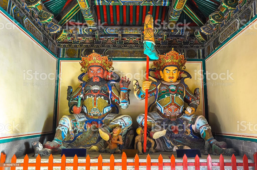 Heavenly kings in Buddhism - western and northern stock photo