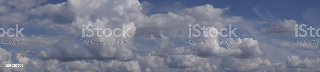 Heavenly landscape with clouds stock photo