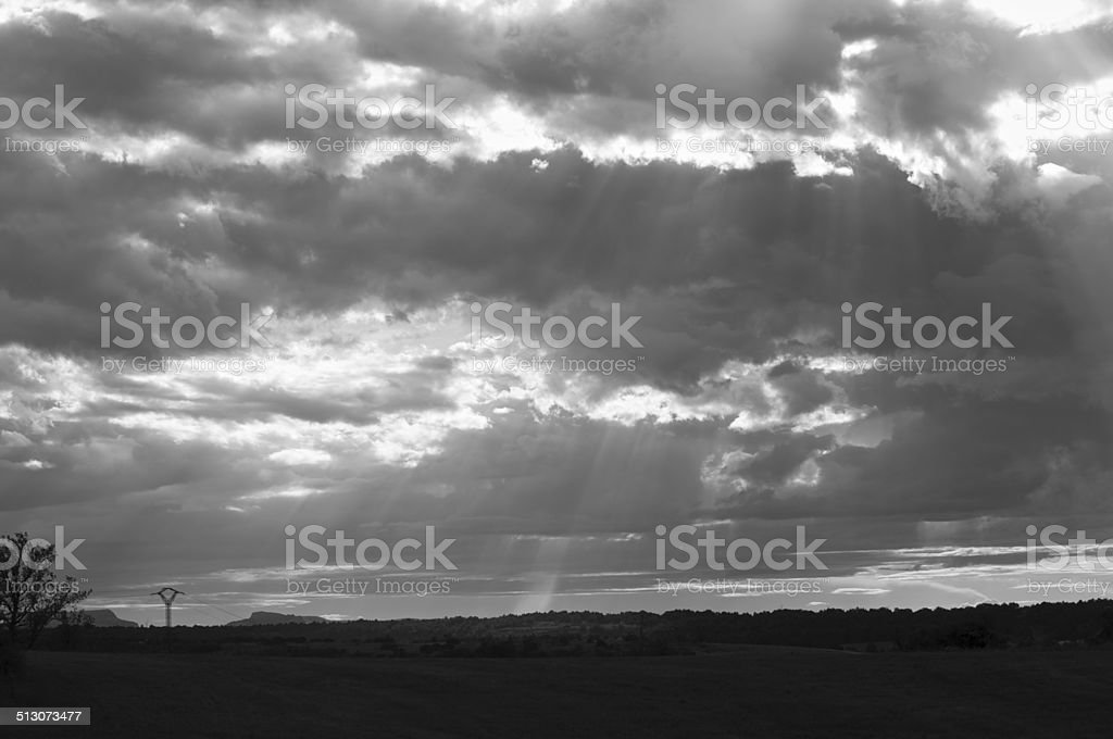 Heavenly light stock photo