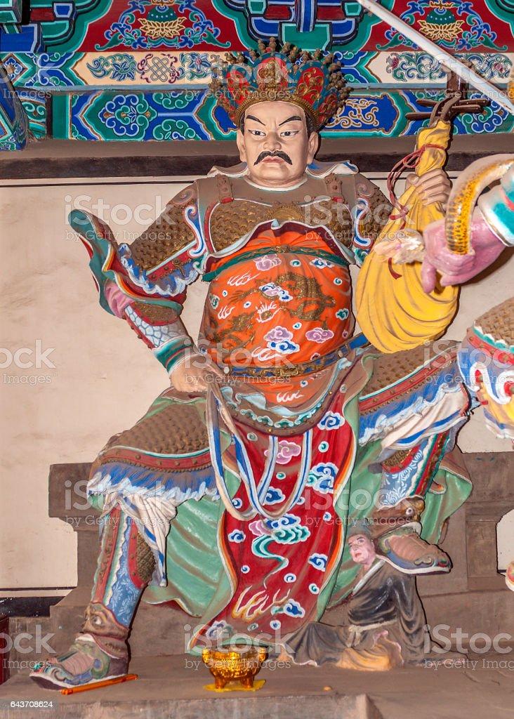Heavenly Ruler Dhrtarashtra (with lute). stock photo