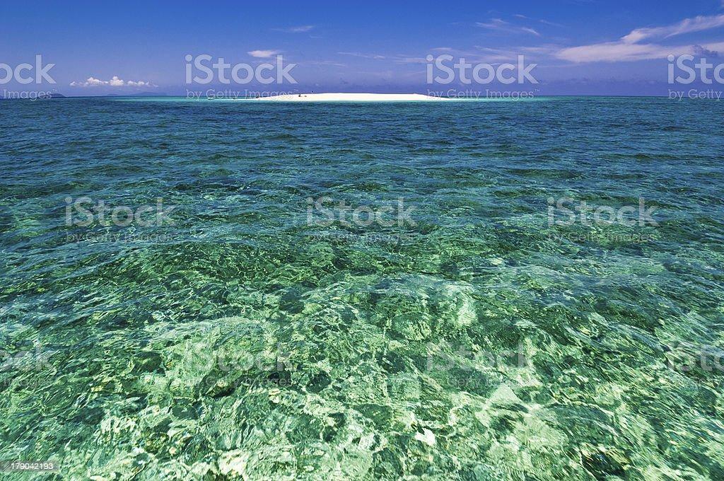 heavenly scenery, lagoon, white sand / ?lot Blanc, lagon, Mayotte stock photo