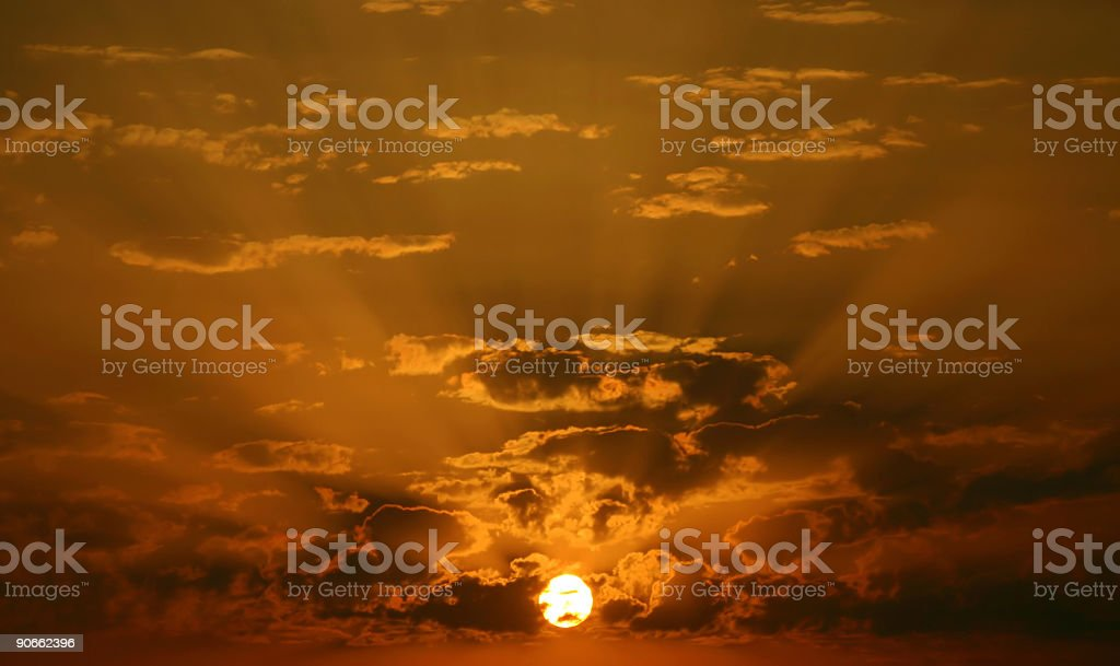 Heavenly sunset royalty-free stock photo