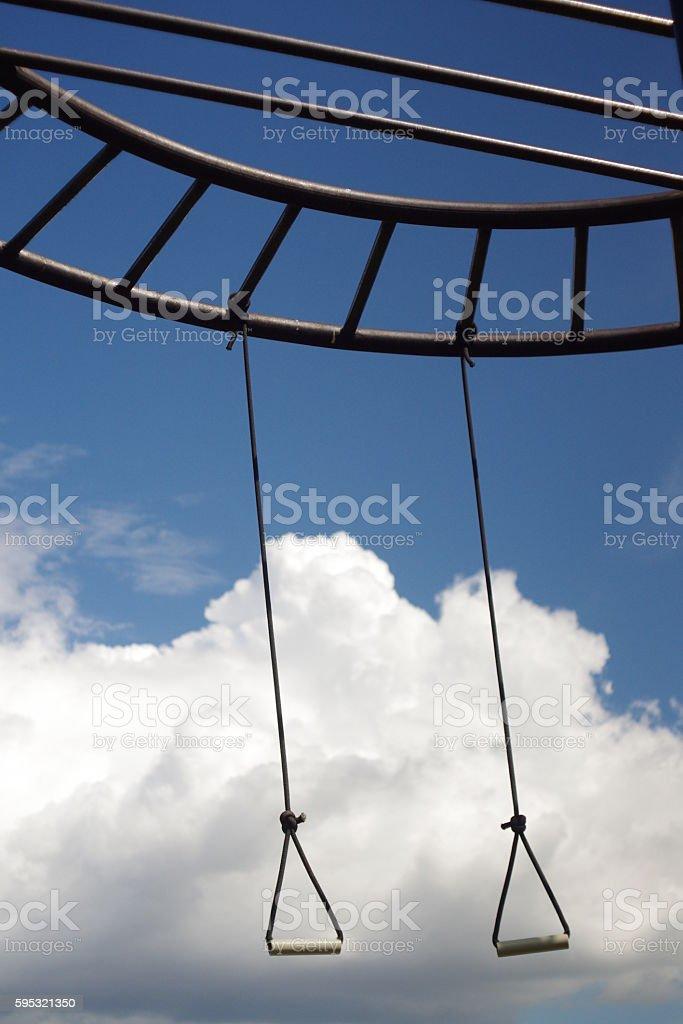 Heavenly swing stock photo