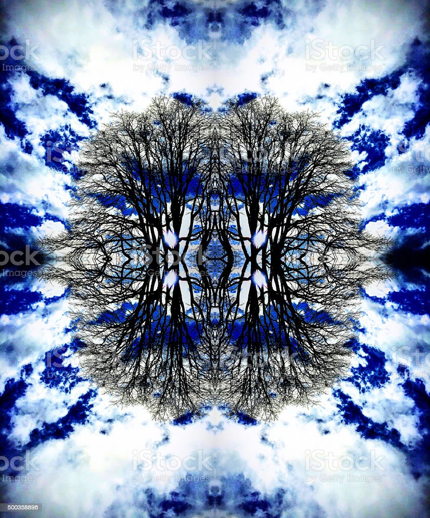 Heavenly trees abstract royalty-free stock photo