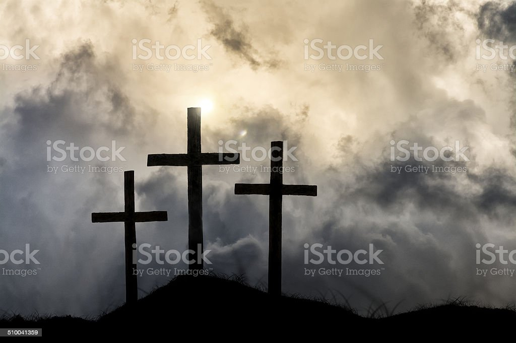 Heavenly Victory After the Crucifixion stock photo