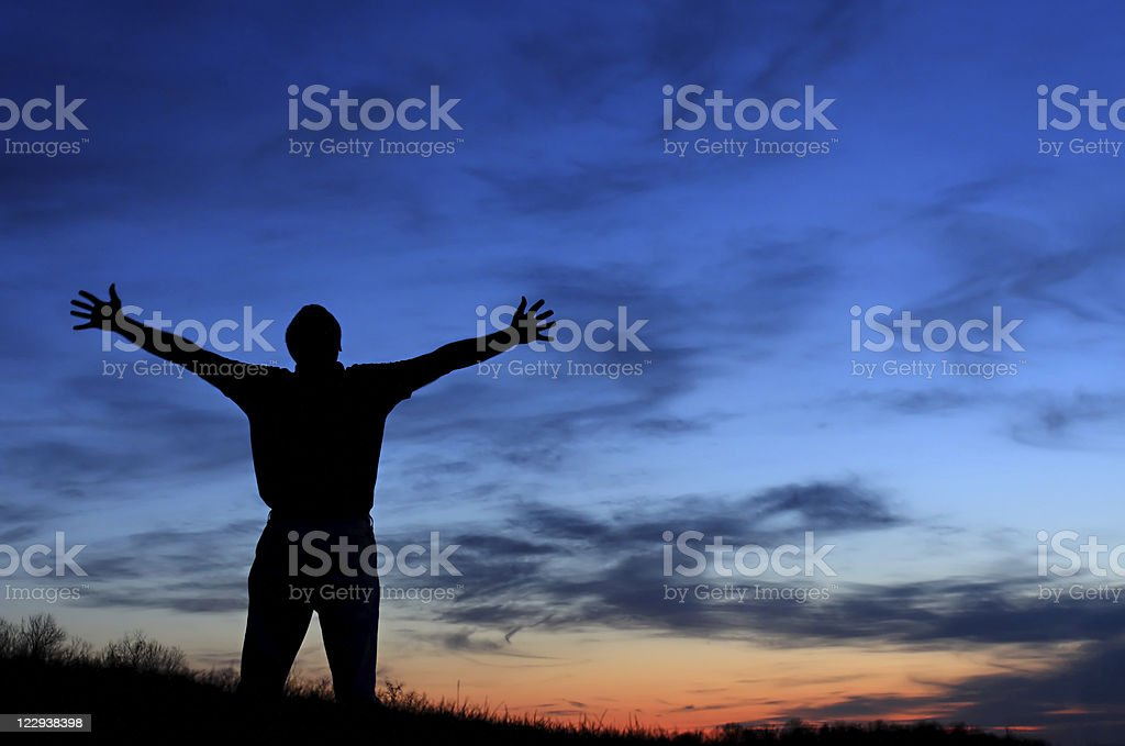 Heavenly Worship royalty-free stock photo