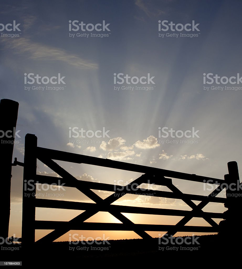 Heaven's gate stock photo