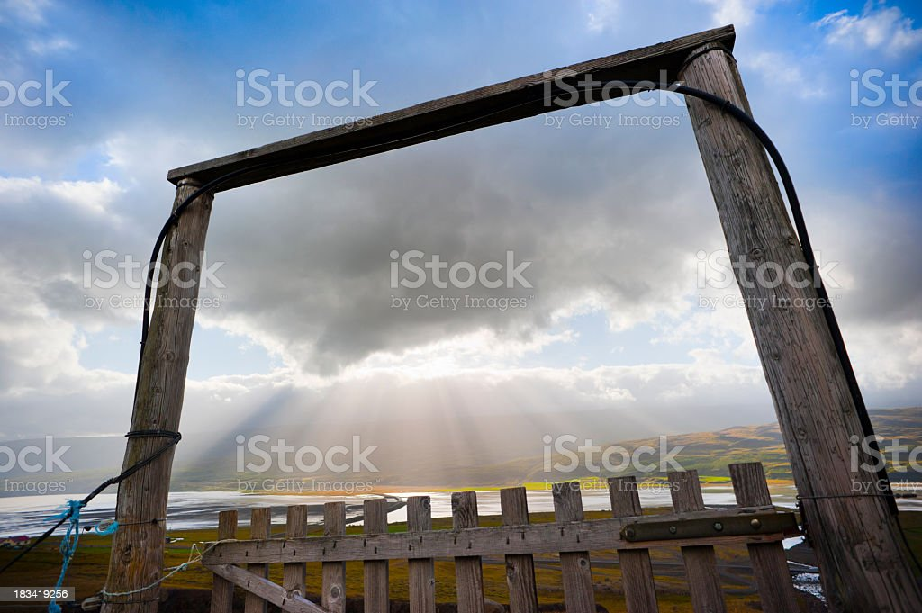 heavens gate stock photo