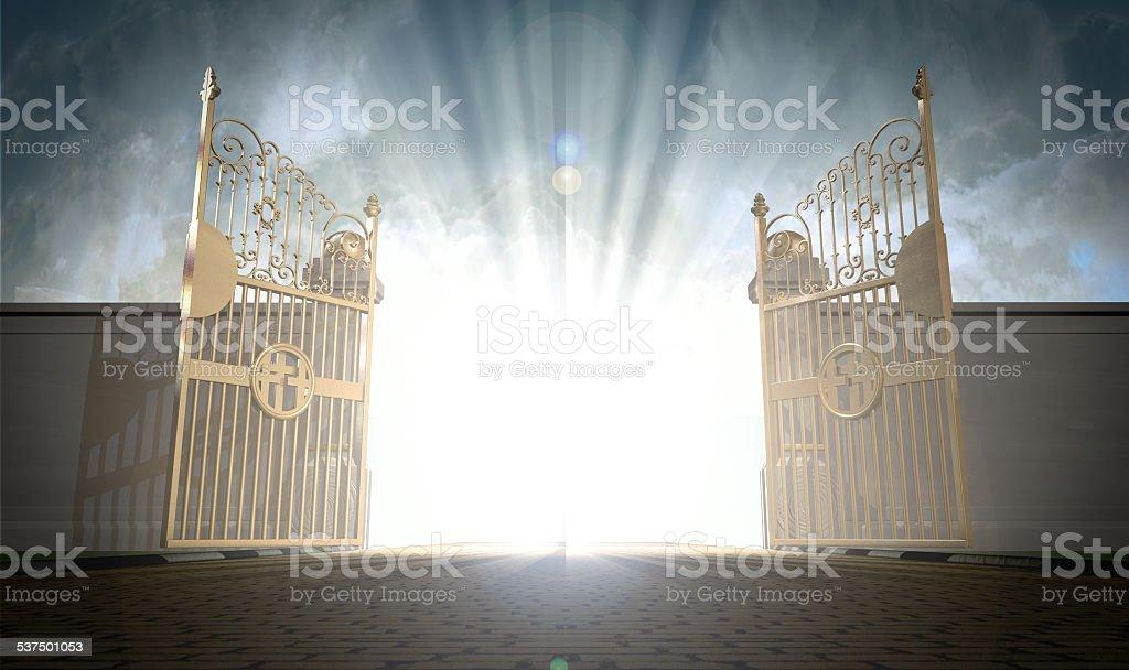 Heavens Gates Opening stock photo