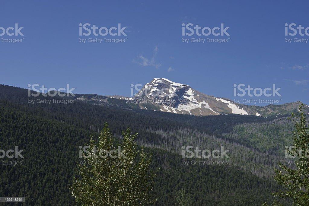 Heaven's Peak Blue Ice stock photo