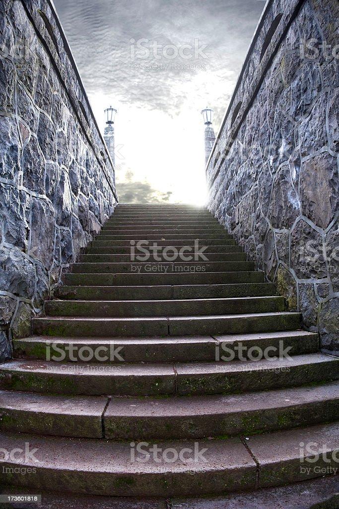 Heaven's Stairway royalty-free stock photo