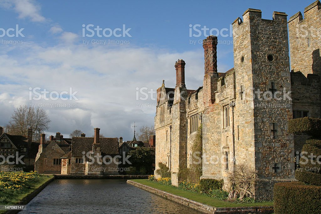 Heaver Castle and Moat stock photo