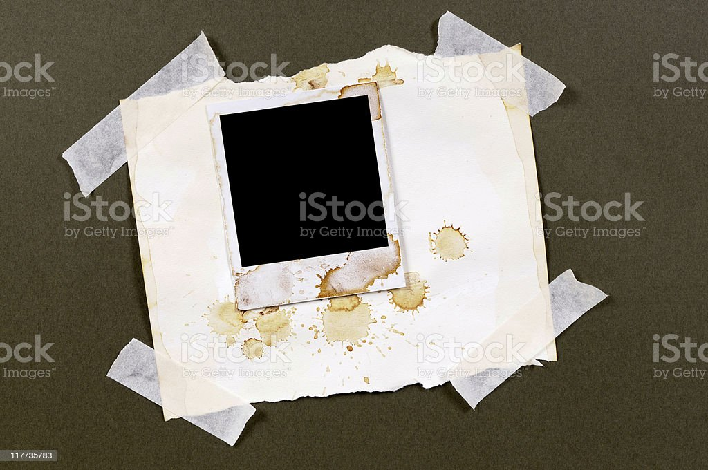 Heavily stained photo print royalty-free stock photo