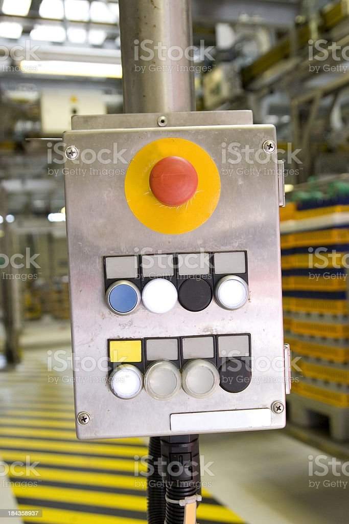 Heavily Used Control Panel stock photo