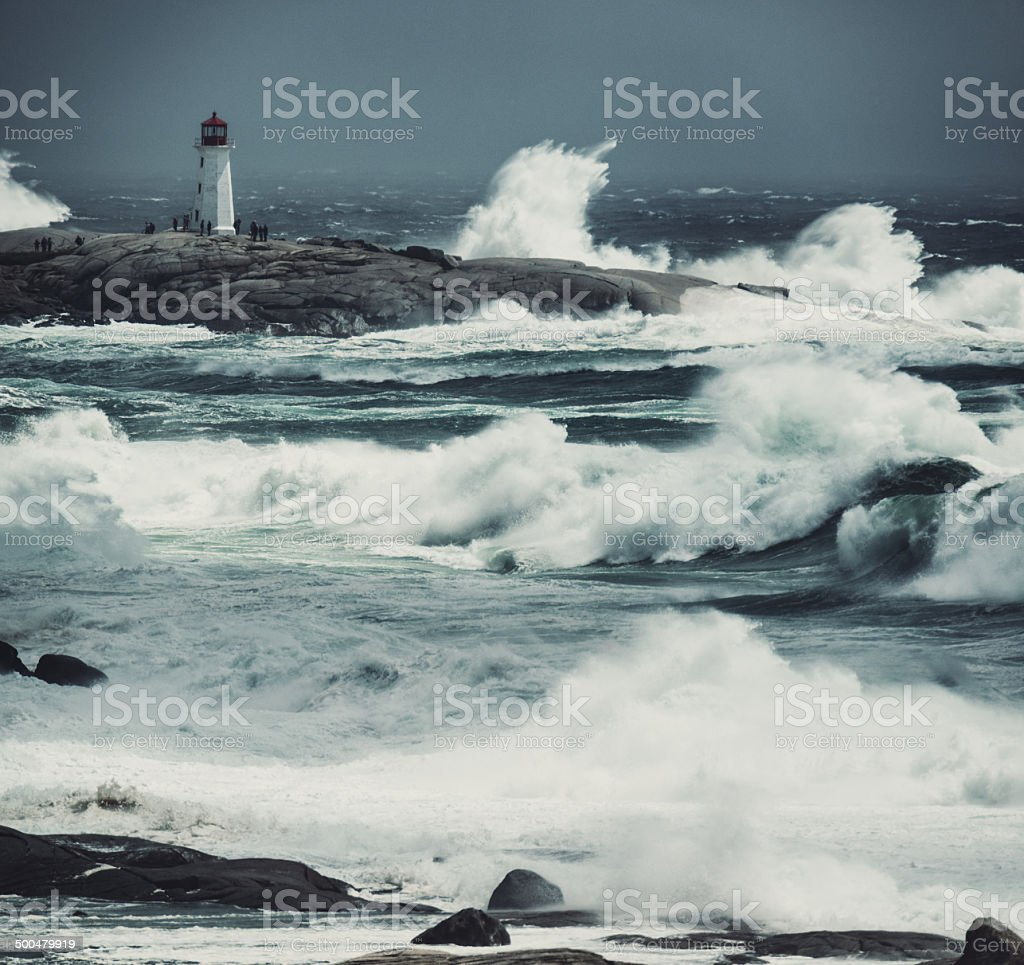 Heaving Seas of Arthur stock photo