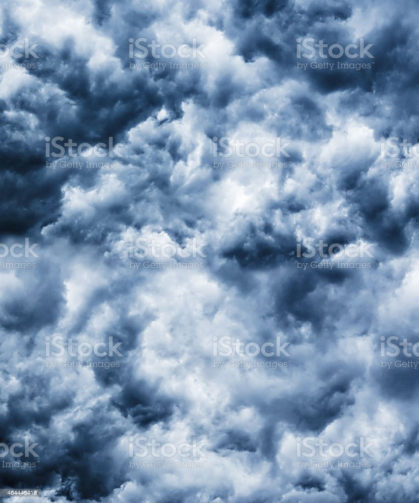Heavy black gale stormy clouds stock photo