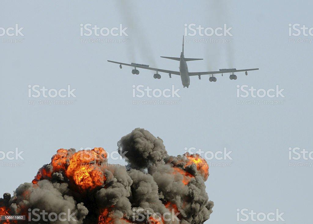 Heavy bomber on a mission royalty-free stock photo