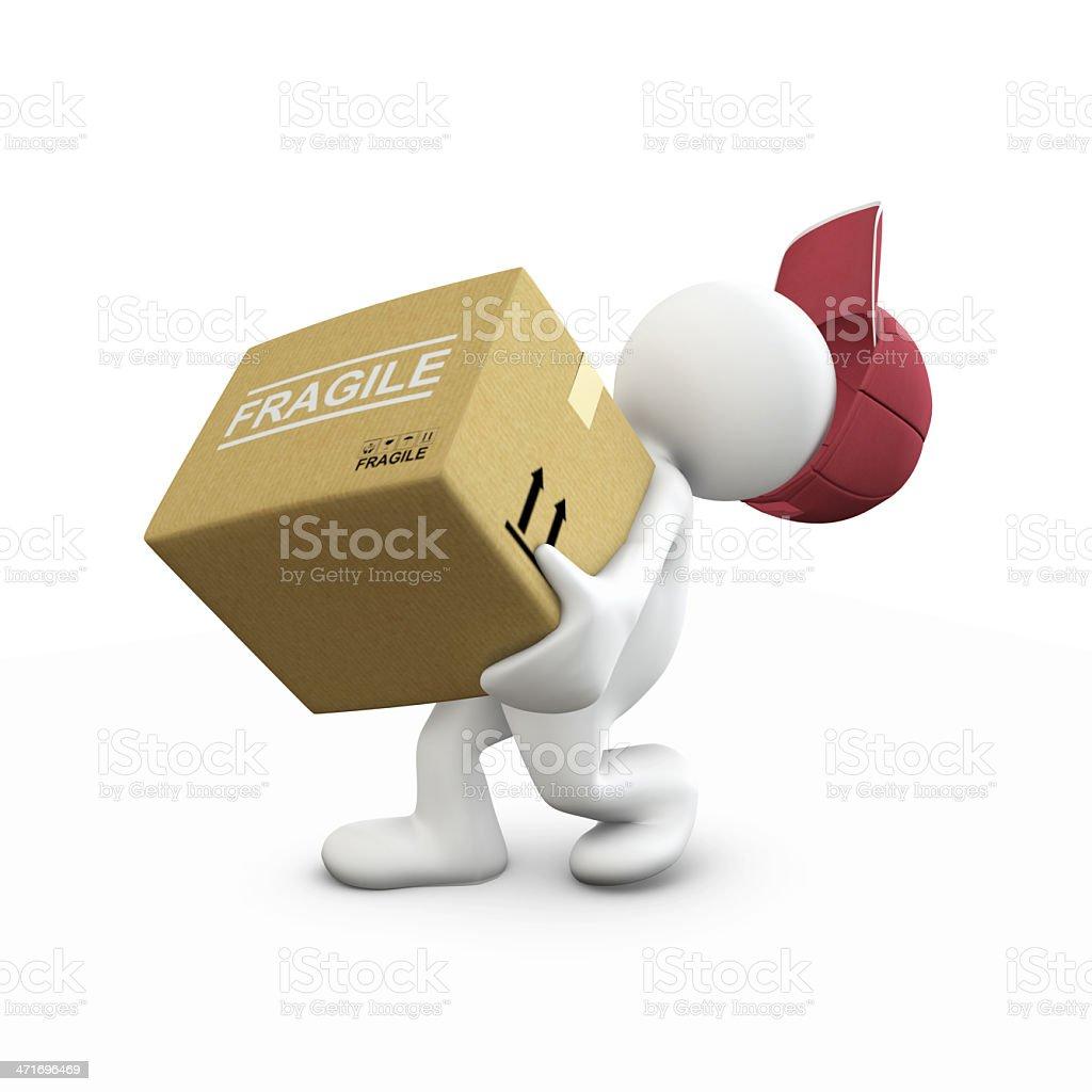 Heavy box!! stock photo