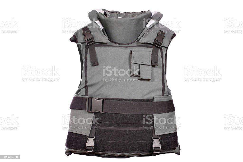 heavy bulletproof vest isolated stock photo