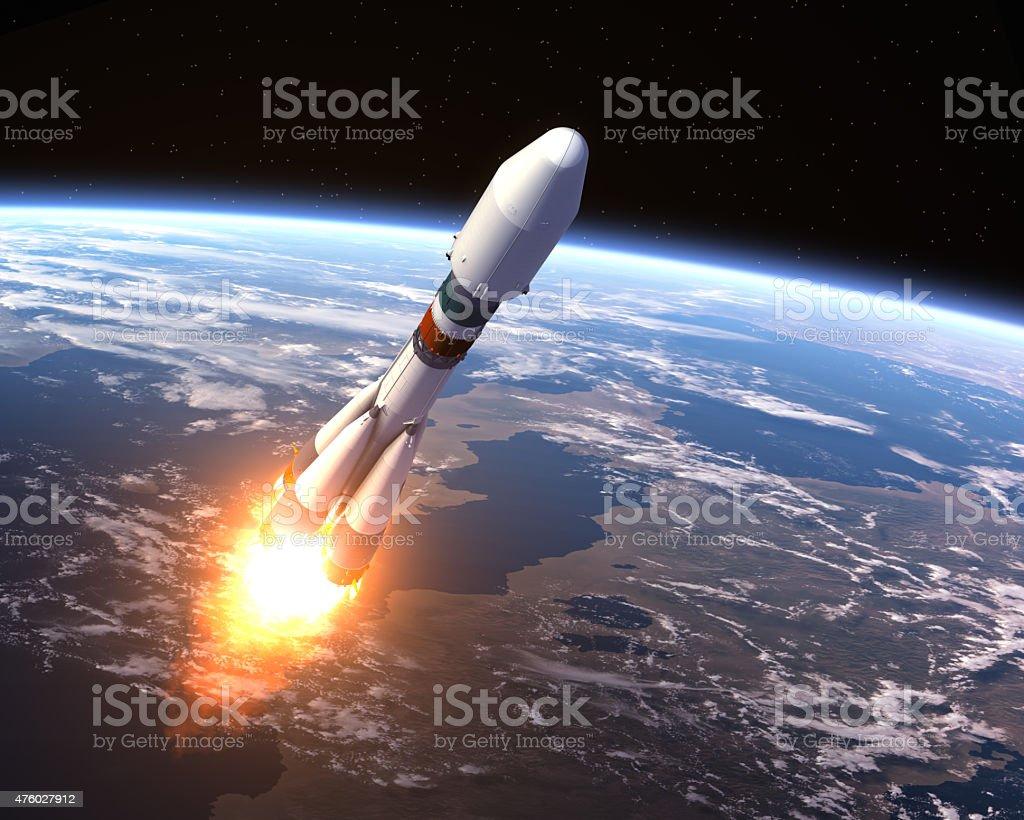 Heavy Carrier Rocket Launch stock photo