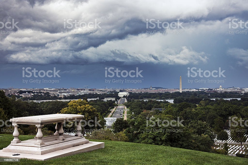 Heavy clouds over Washington royalty-free stock photo