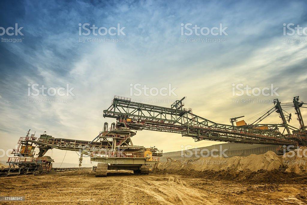 Heavy coal mine transportation facility stock photo