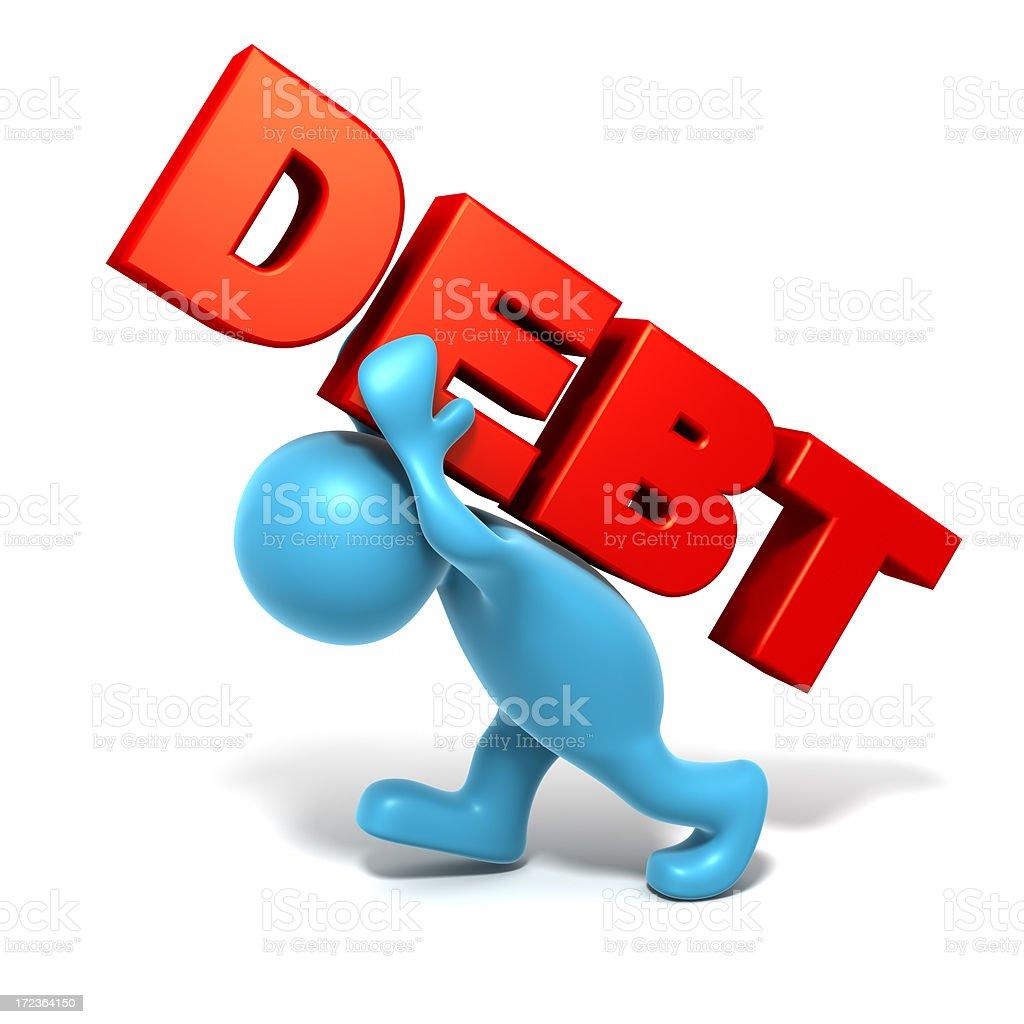 Heavy Debt. royalty-free stock photo