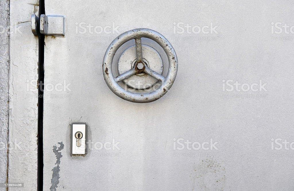 Heavy door lock stock photo