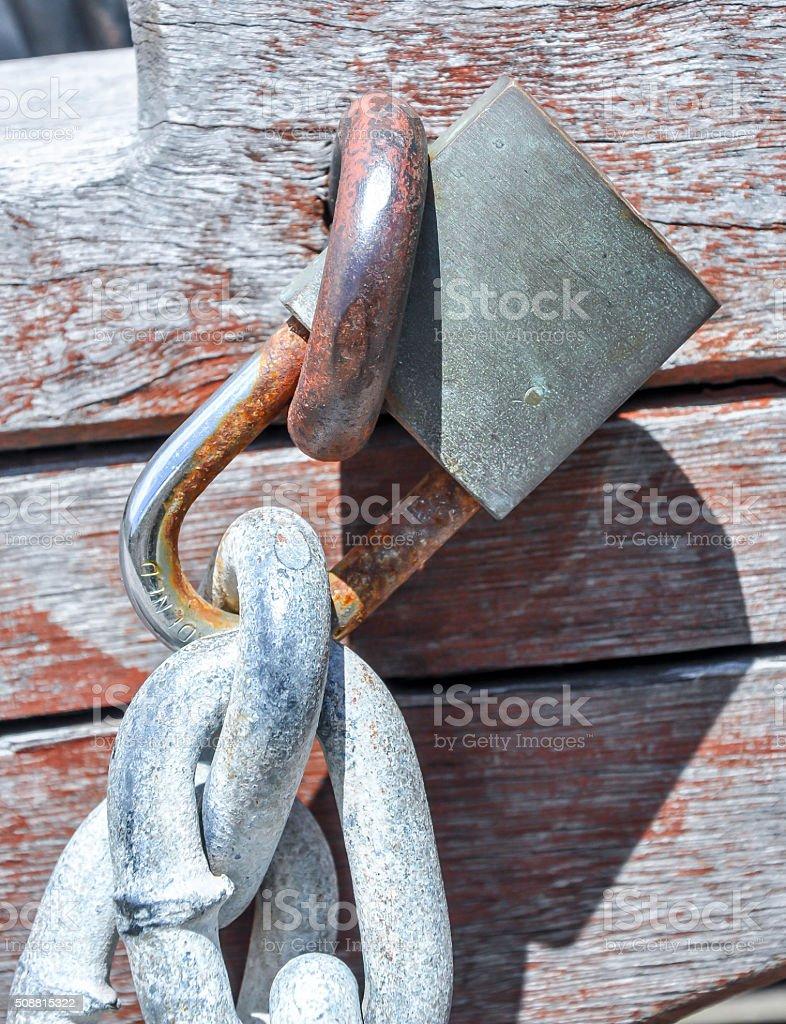 Heavy Duty Chain: Locked stock photo