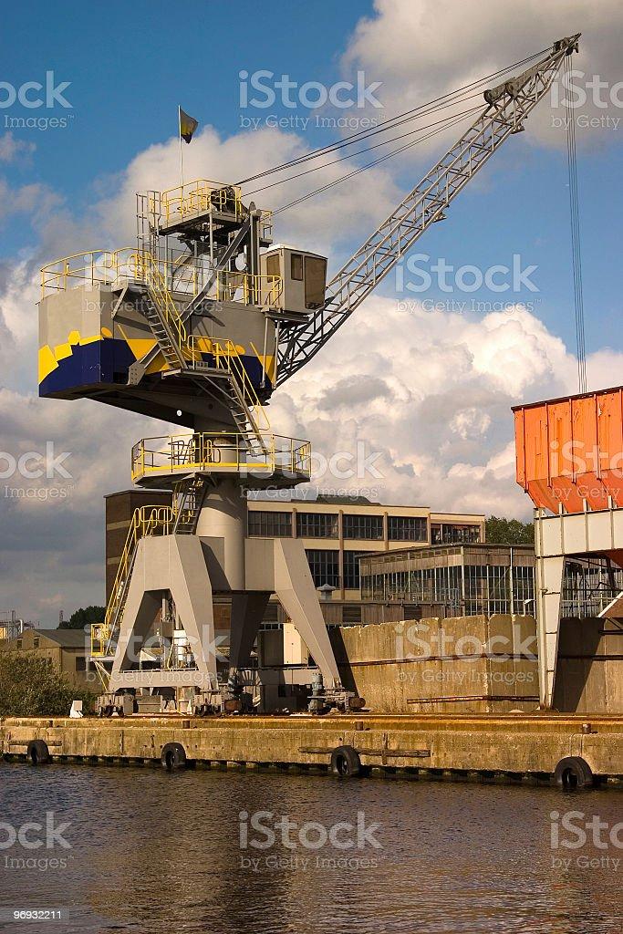 Heavy duty crane royalty-free stock photo