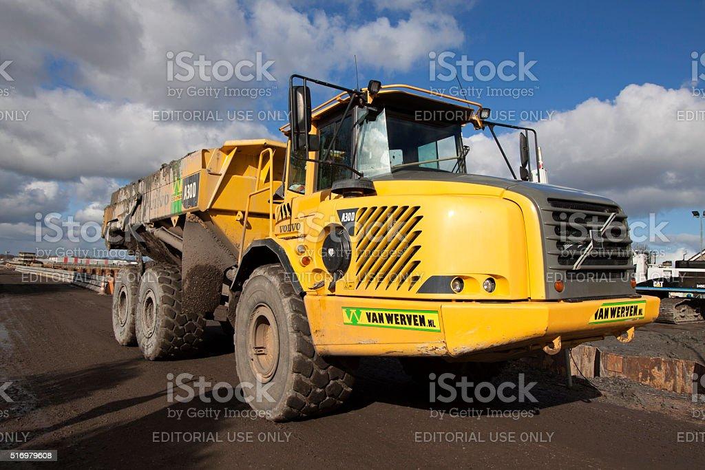 Heavy duty dumper construction machine stock photo