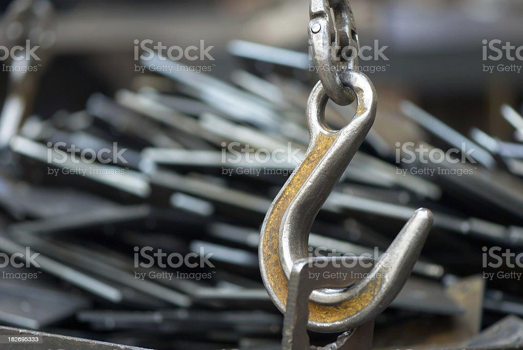 Heavy duty hook stock photo