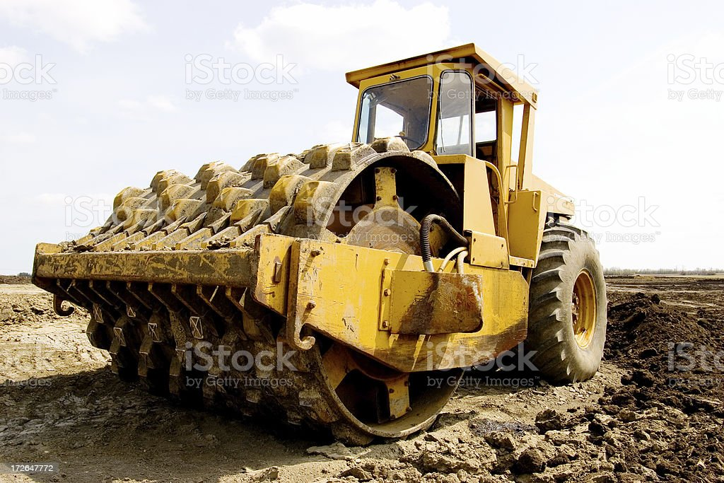 heavy duty industrial compactor royalty-free stock photo