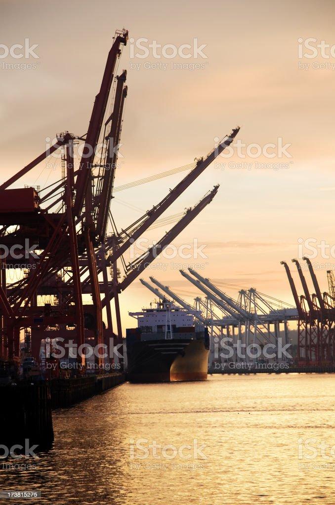 Heavy duty material on shipping port royalty-free stock photo
